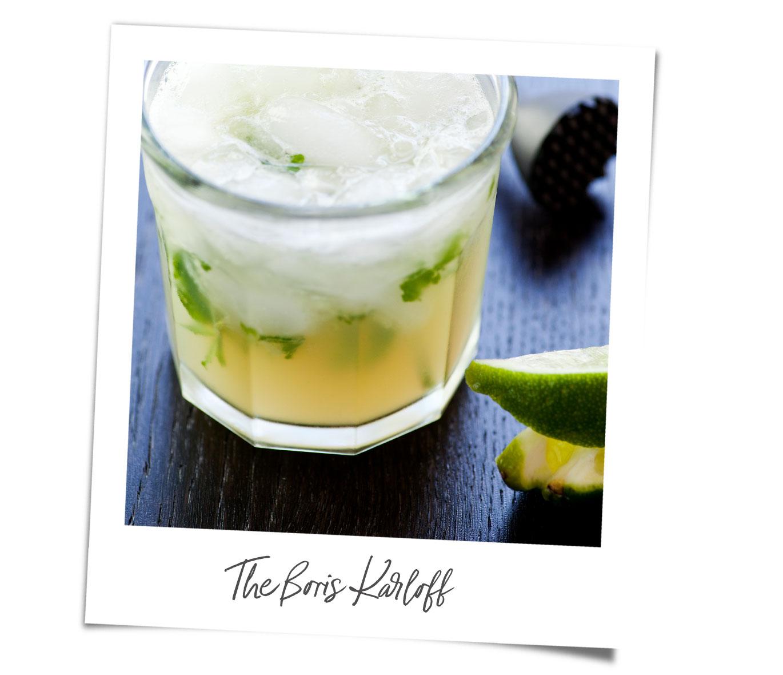 Boris Karloff cocktail recipe polaroid