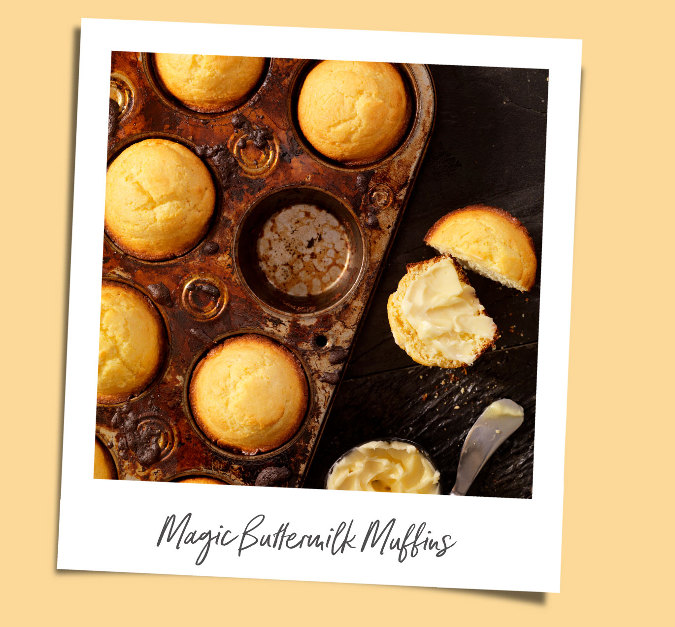 Magic Buttermilk Muffins recipe polaroid
