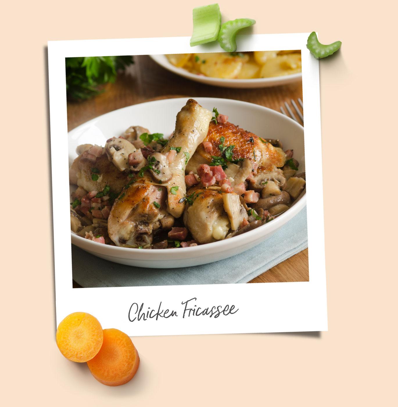 Chicken Fricassee recipe polaroid